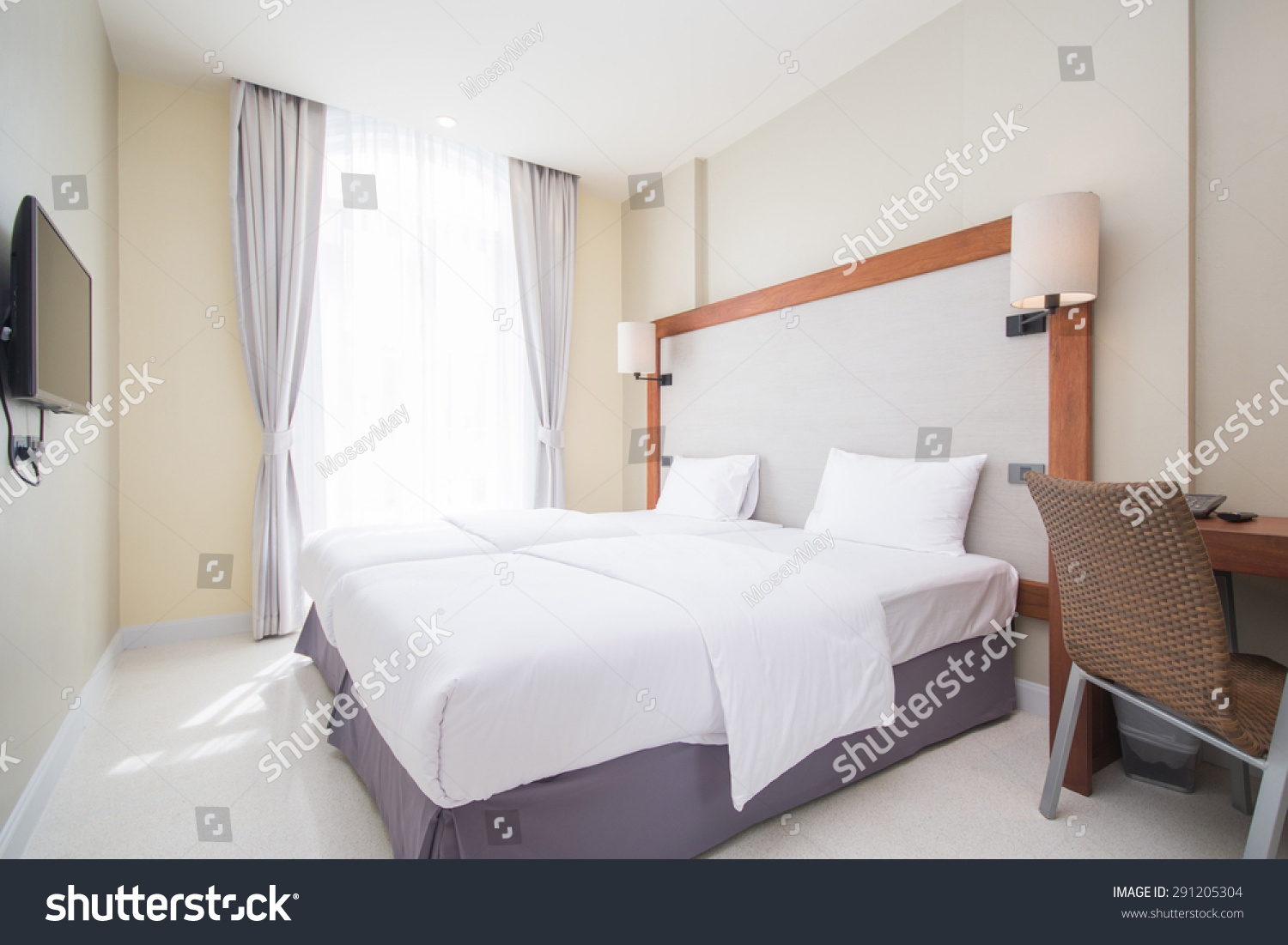 Double Bed Bedrooms Decorated Modern Style Stock Photo (Edit ...