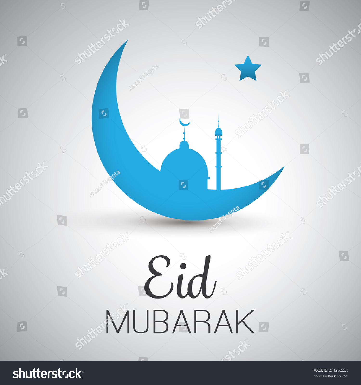 Royalty Free Eid Mubarak Moon In The Sky 291252236 Stock Photo