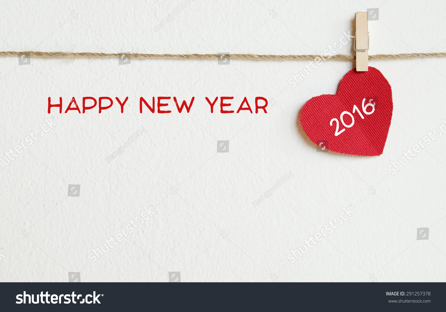 ... happy new year 2016 word hanging on the clothesline, new year template