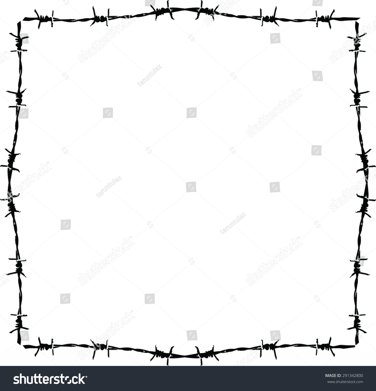 Background Barbed Wire Frame Stock Vector (2018) 291342800 ...