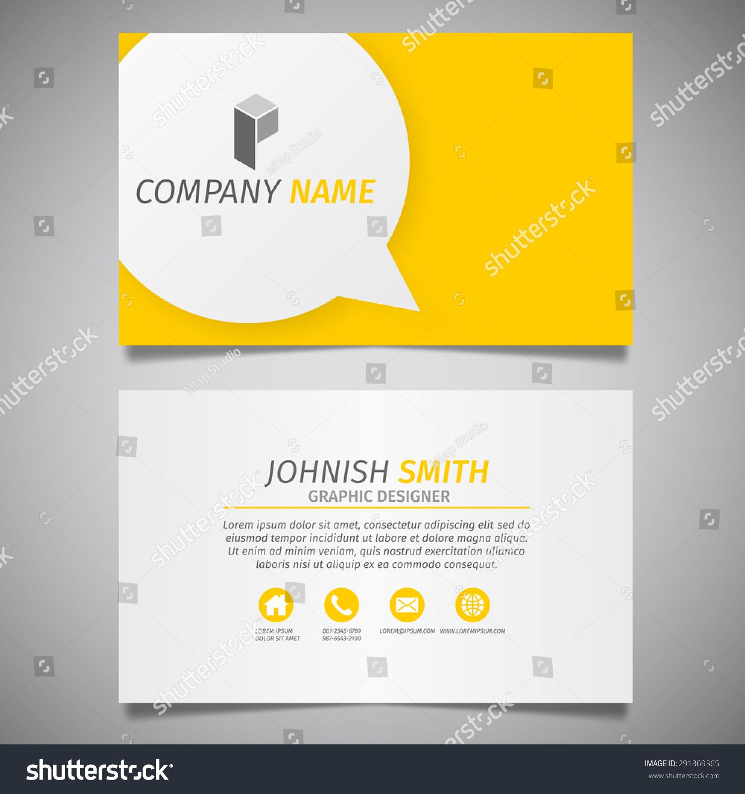 Modern Creative Information Design Simple Business Stock Vector ...