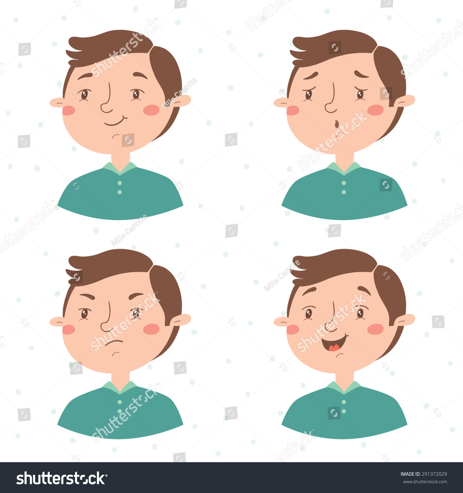 Stock Vector Boy Facial