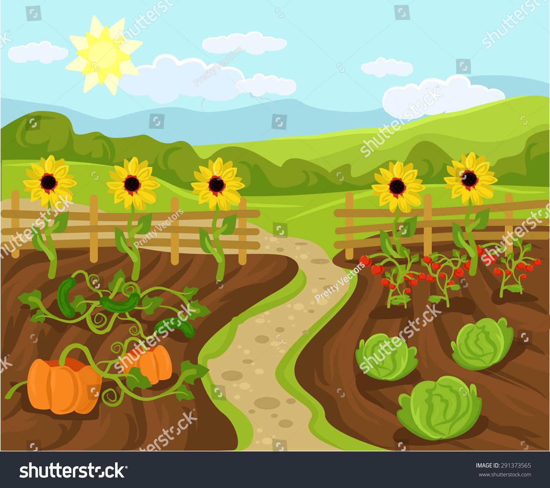Vector Garden Flat Cartoon Illustration - 291373565 ...