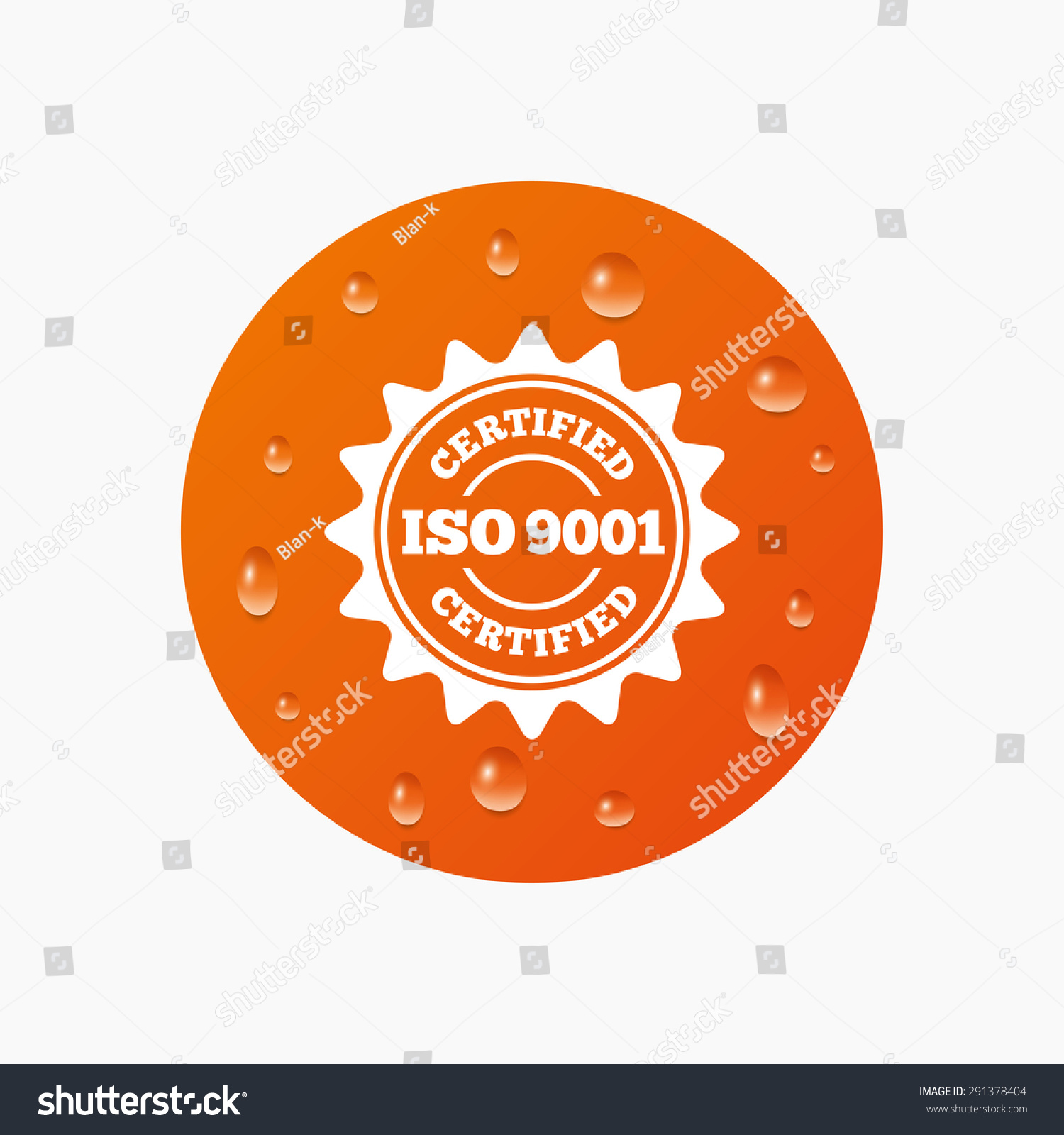Water drops on button iso 9001 stock vector 291378404 shutterstock water drops on button iso 9001 certified sign icon certification star stamp realistic 1betcityfo Images