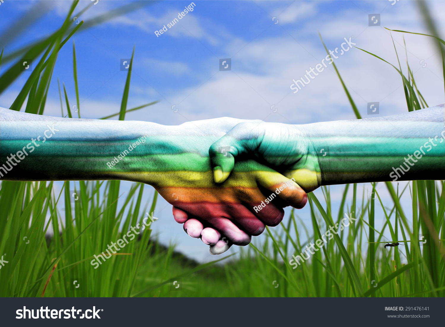 Royalty Free The Touch Of The Hand Shows The Love 291476141 Stock