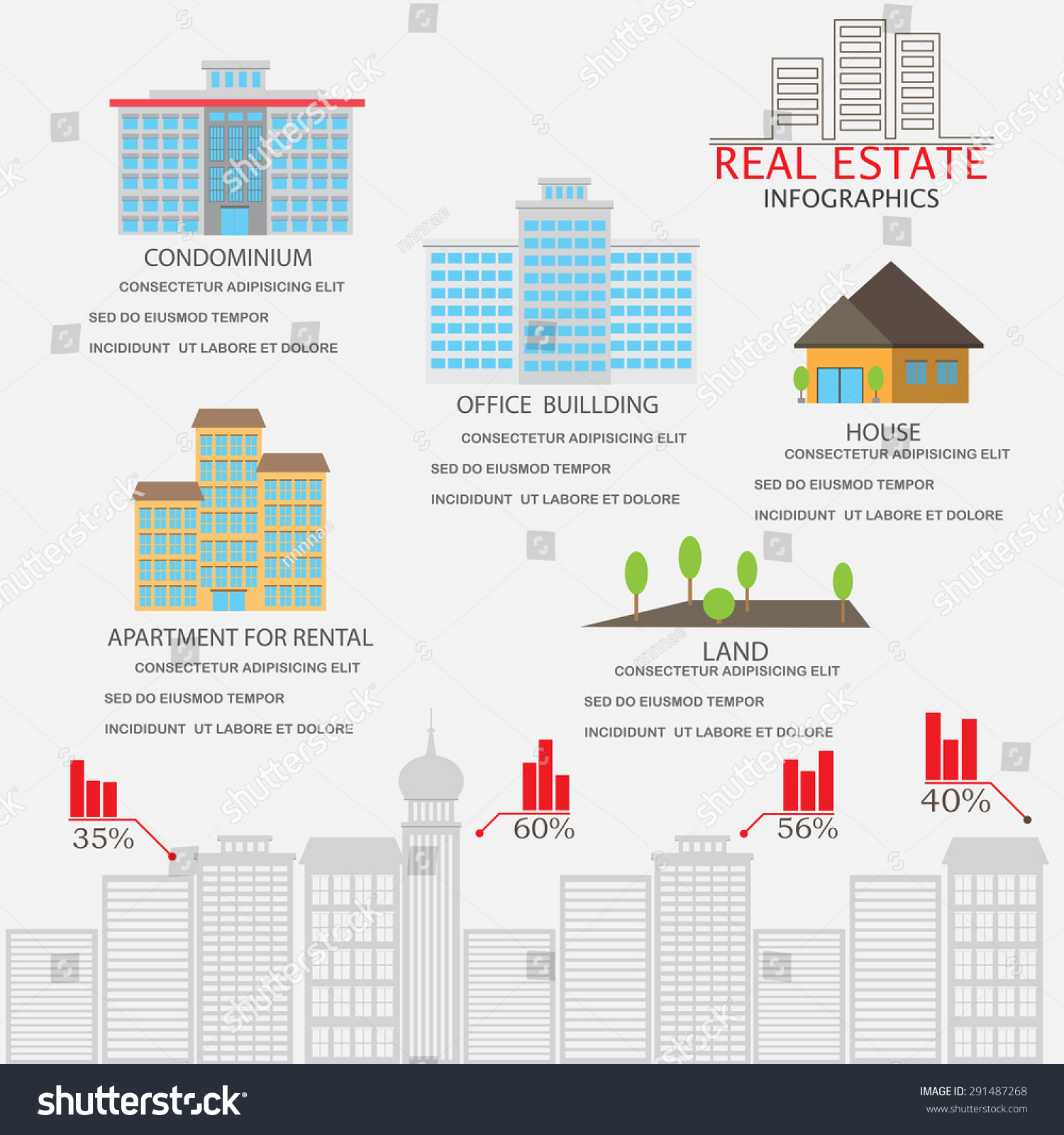 Real Estate Investment Infographics Element Background