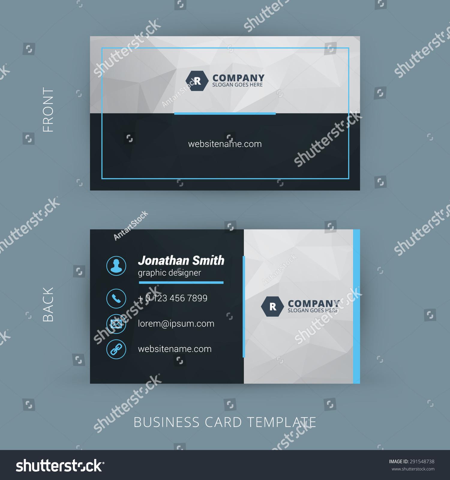 Vector Modern Creative Clean Business Card Stock Vector 291548738 ...