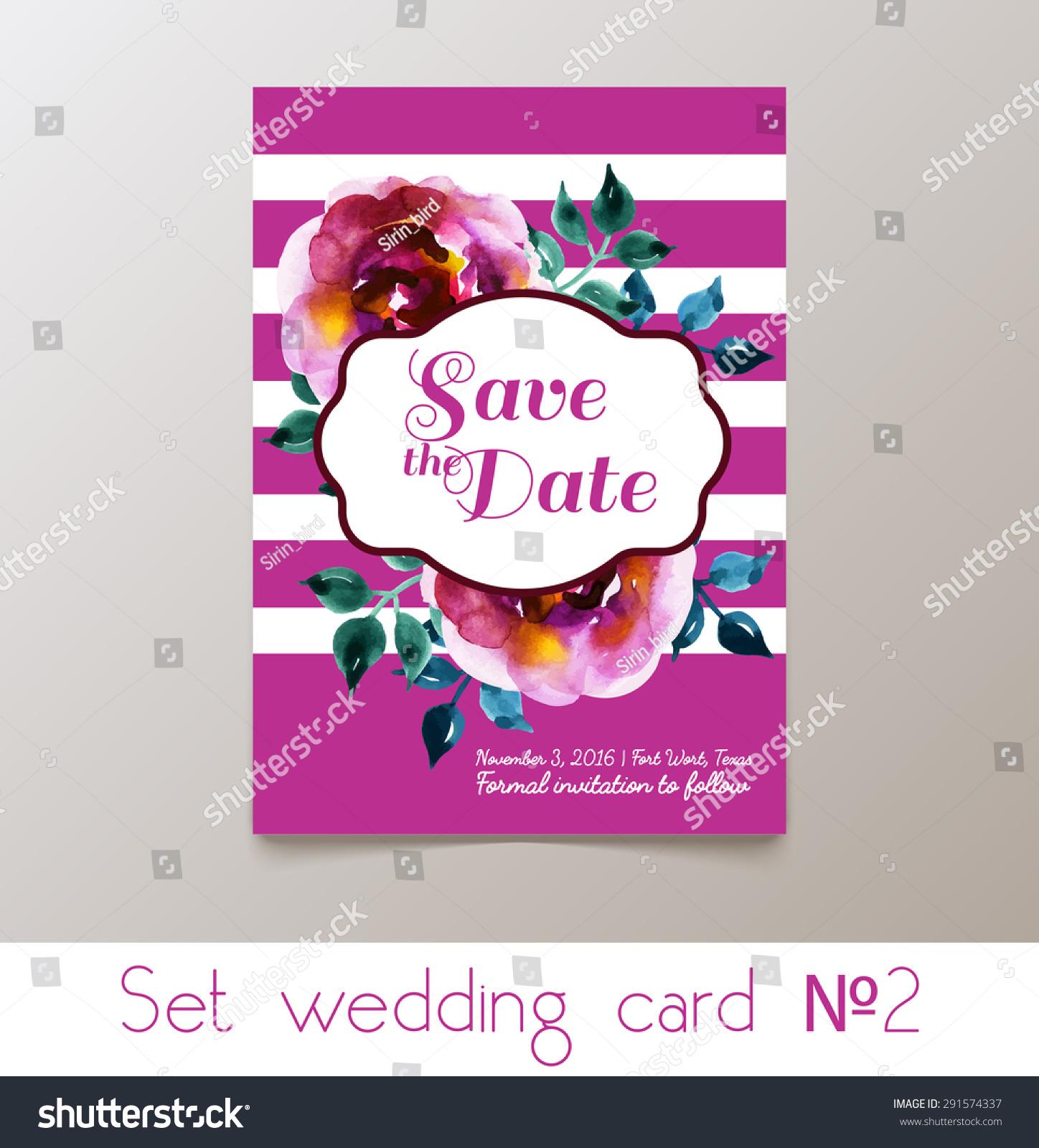 Set Weddings Bachelorette Party Invitation Thank Stock Vector ...