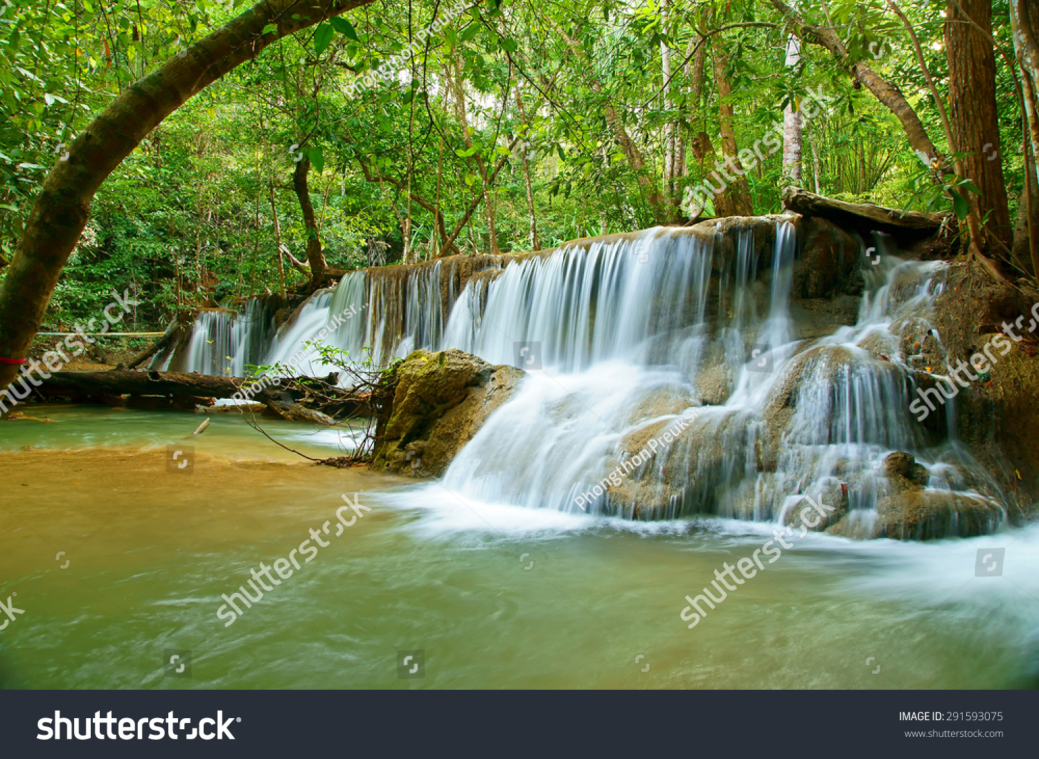 This Is Huai Mae Khamin Waterfall. It Is Major Attraction ...
