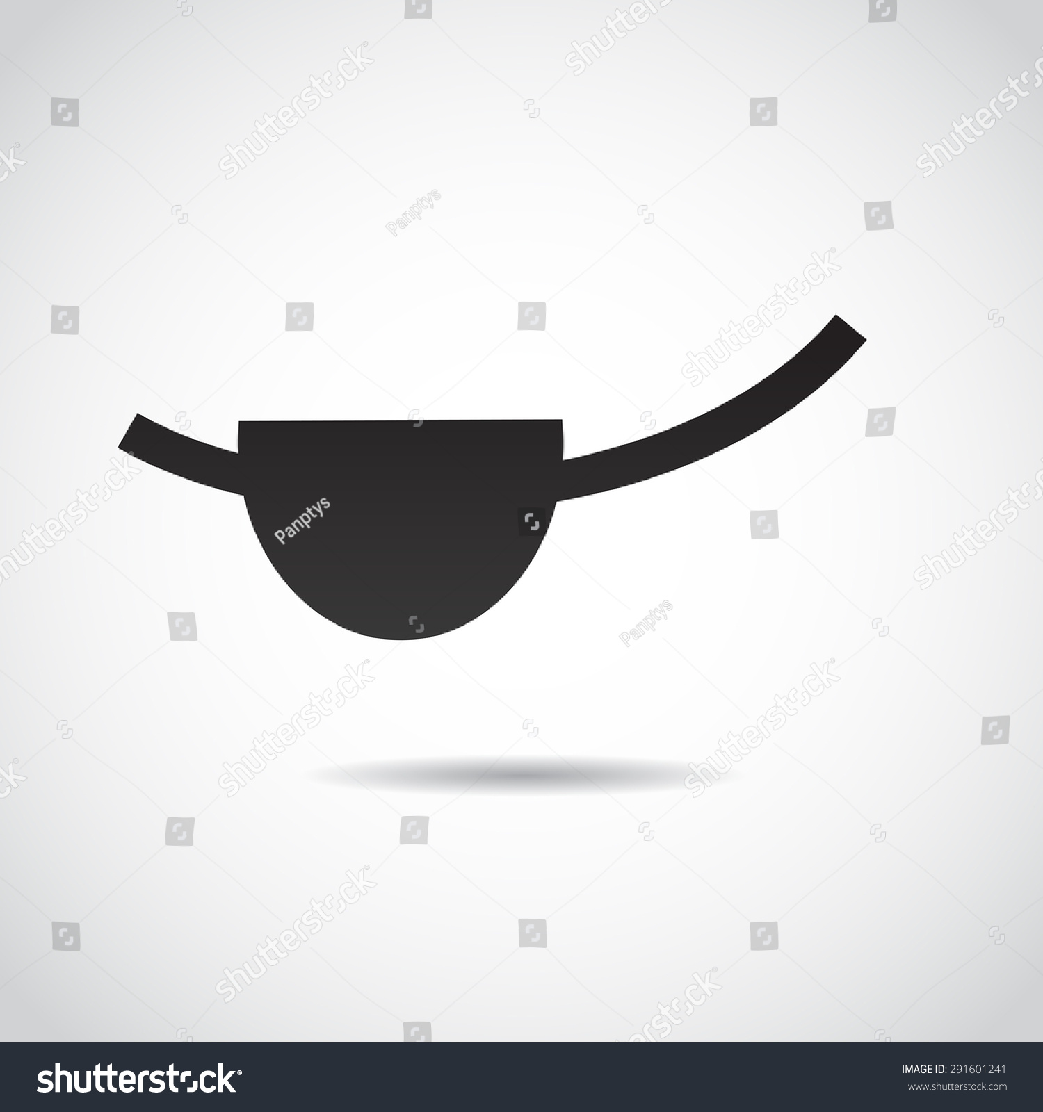 Pirate Eye Patch Vector Art Stock Vector 291601241 ...