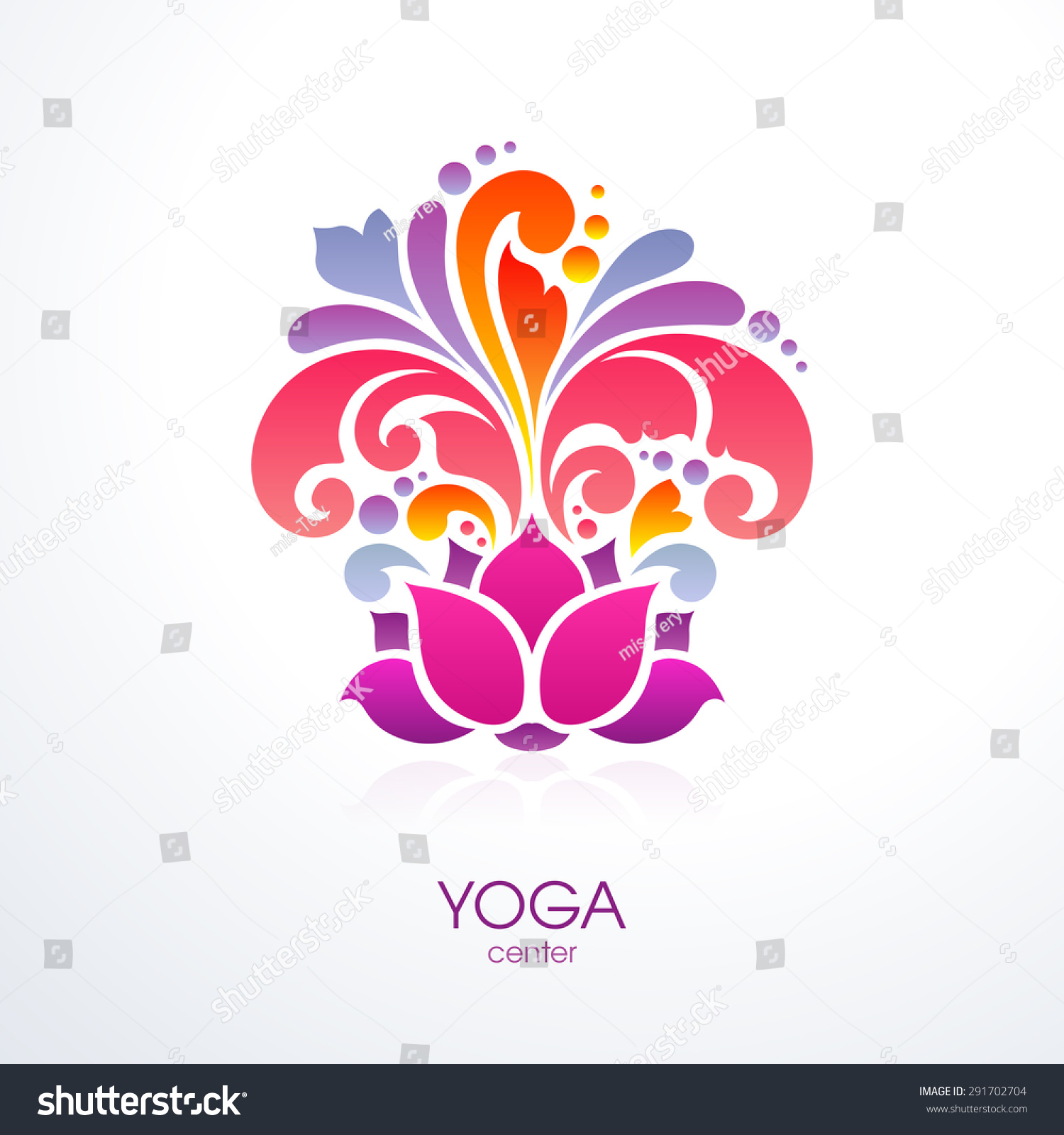 Abstract Flower Background With Decoration Elements For: Abstract Colorful Ornate Splash Yoga Background Decorative