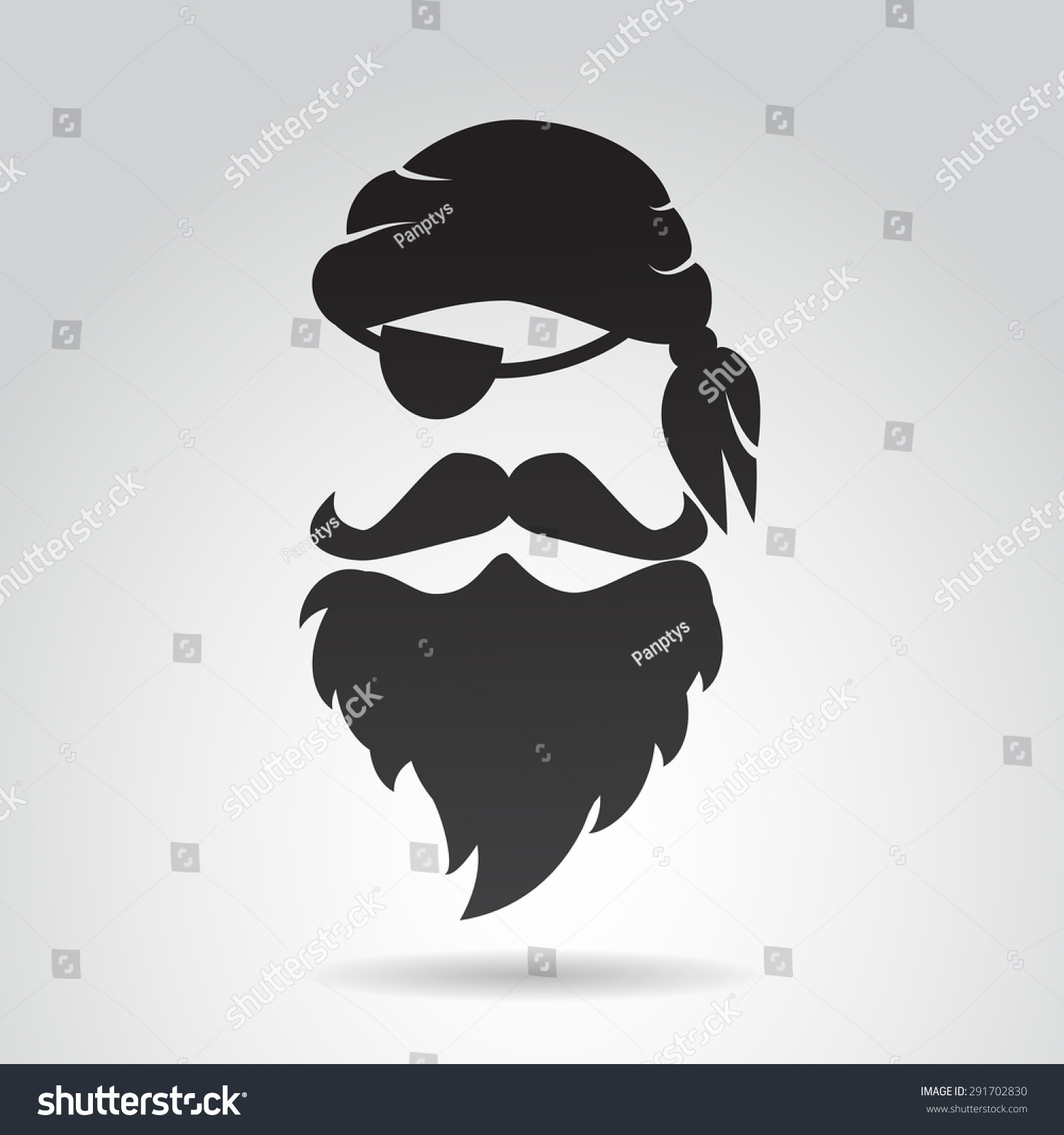 Pirate face vector - photo#2