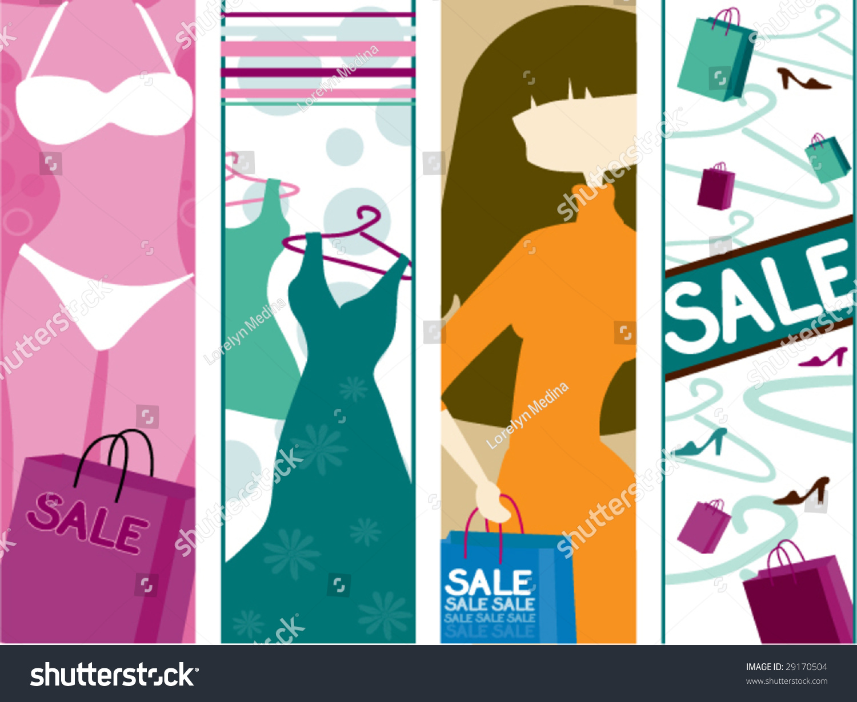 Womens Wear Sale Vertical Banners Vector Stock Vector 29170504 ...