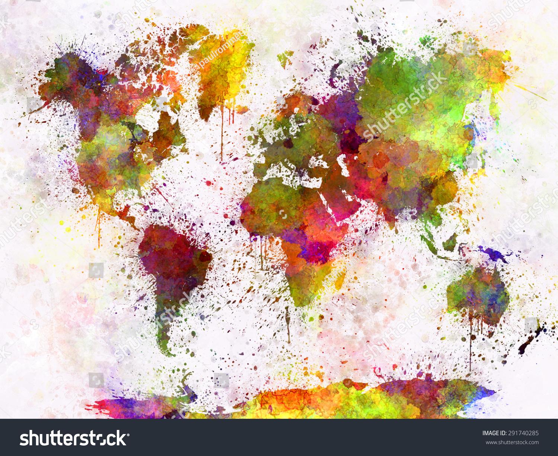 Splatter Paint World Map ~ CVLN RP