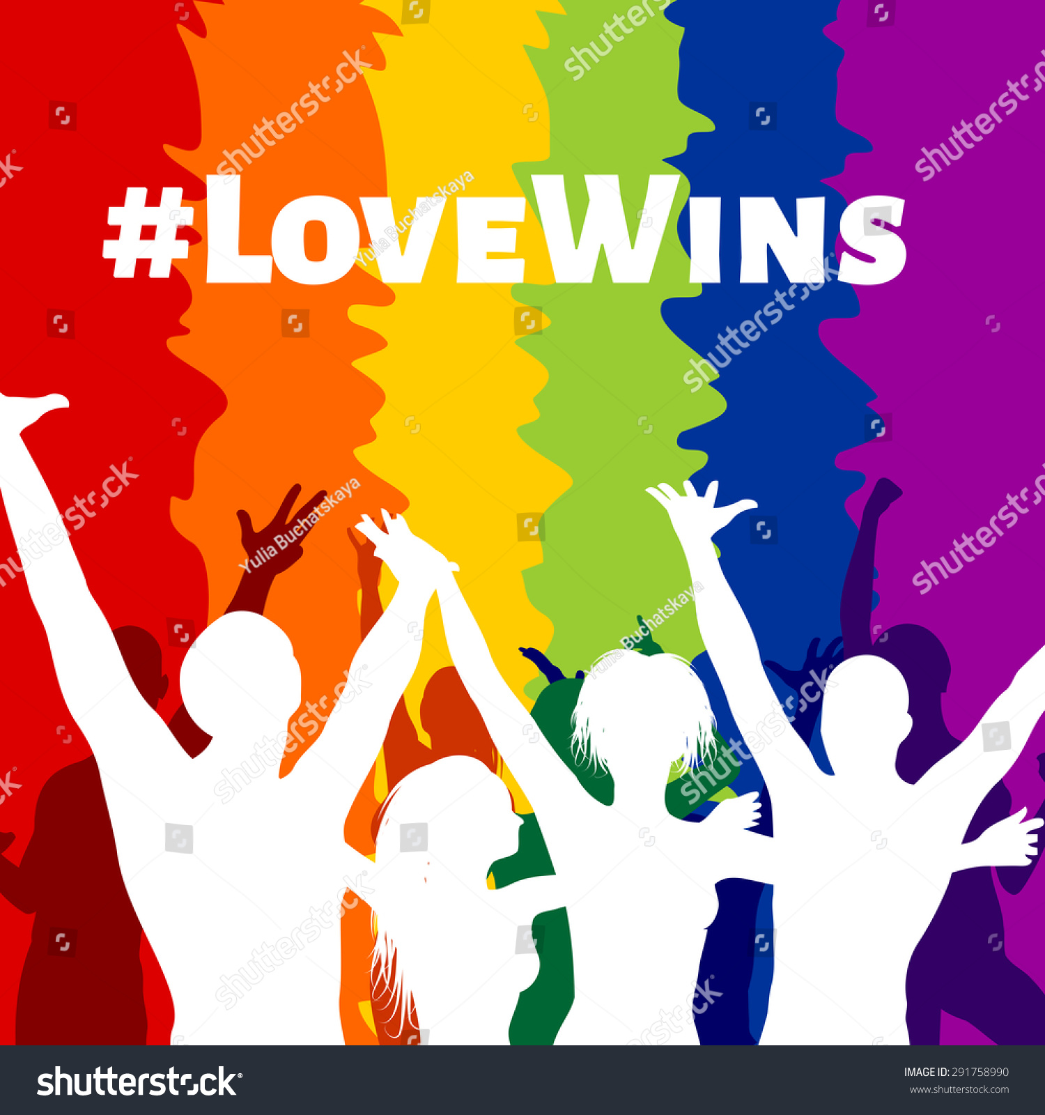 Illustration Happy People Lgbt Colors Love Stock Vector Royalty