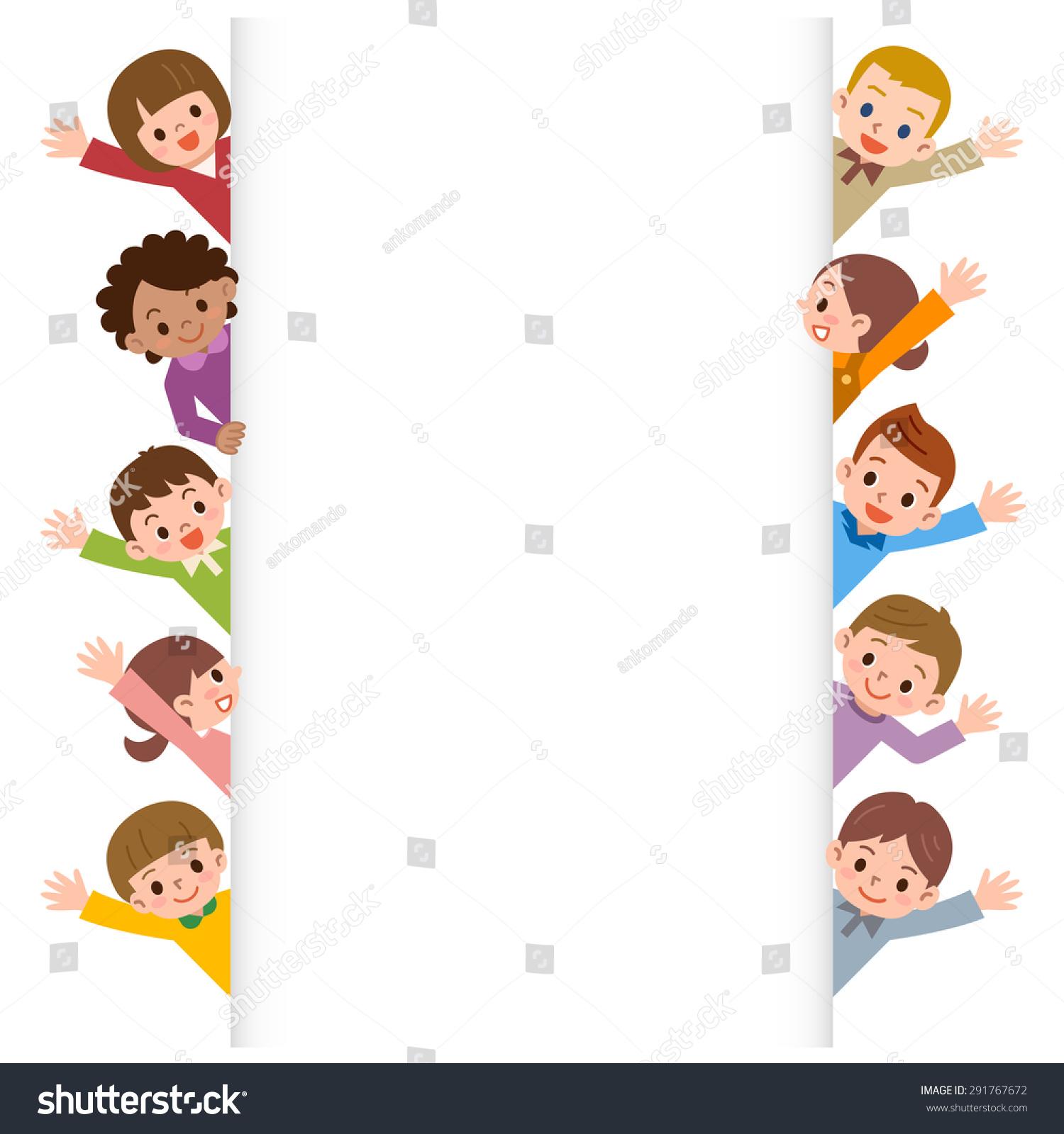 Children Smile Waving Stock Vector  Shutterstock
