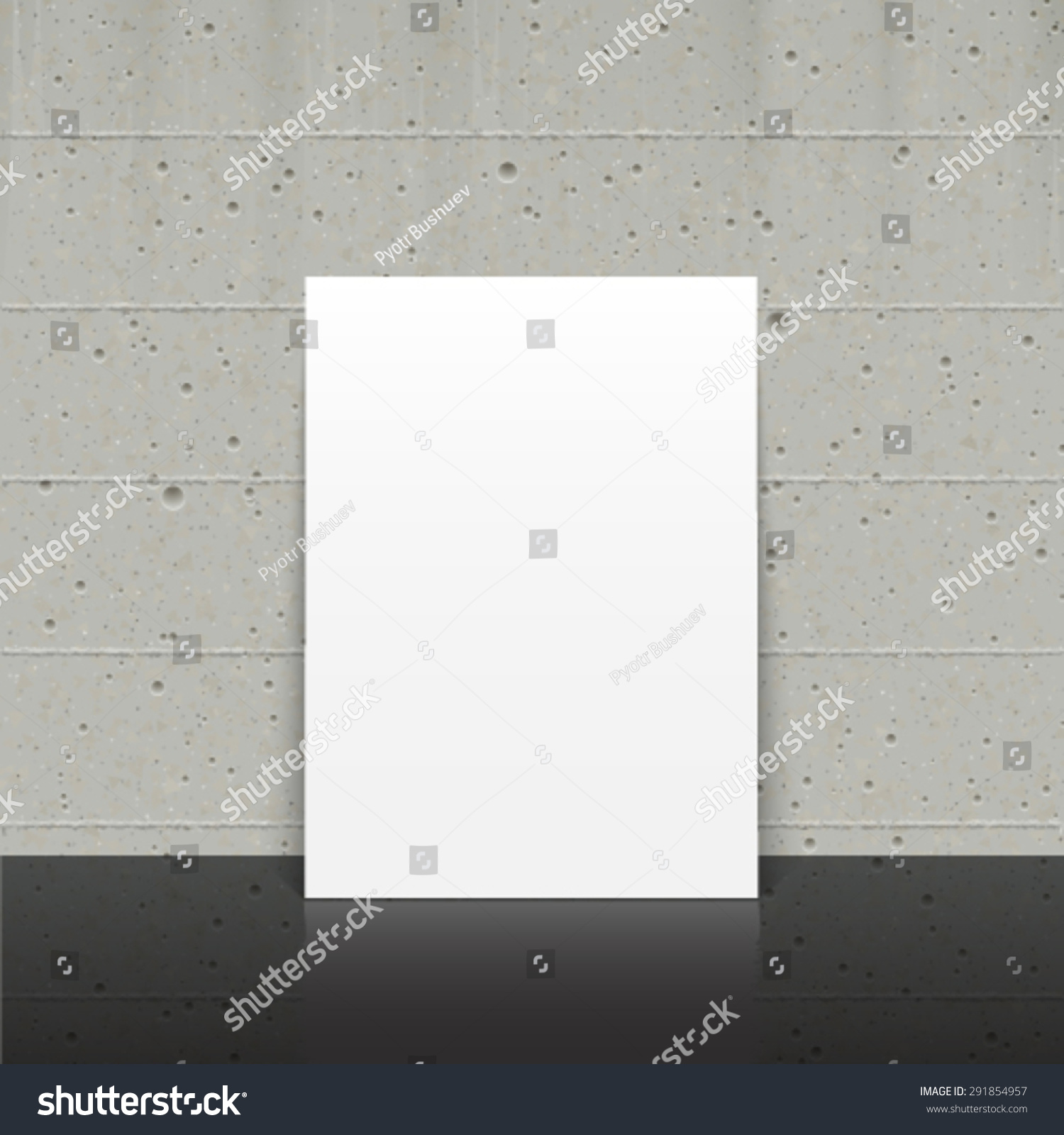 vector trendy blank poster on concrete stock vector royalty free