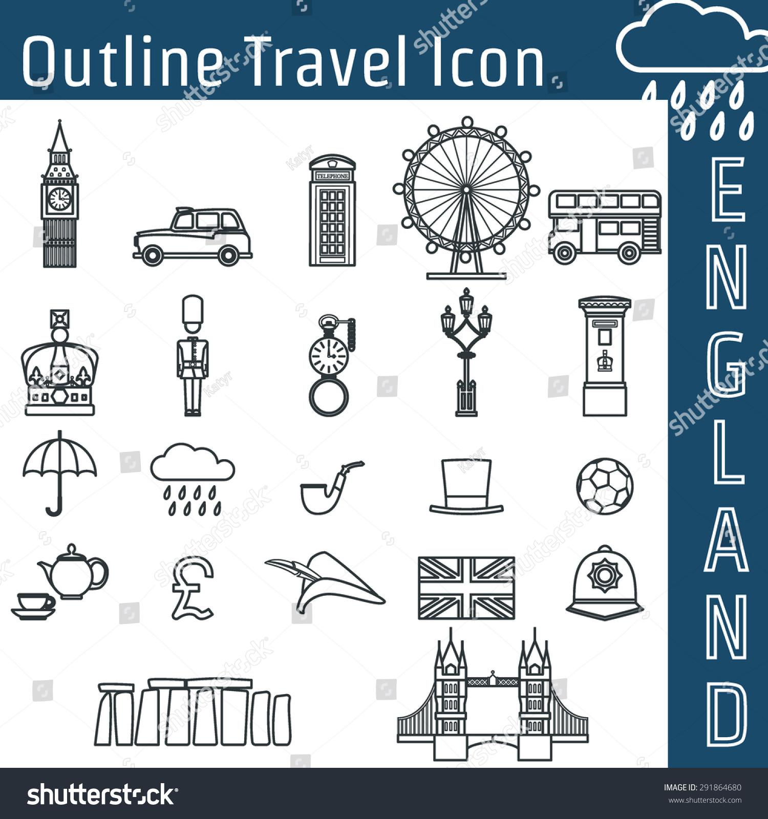 vector illustration england icon outline design stock vector vector illustration of england icon outline for design website background banner travel