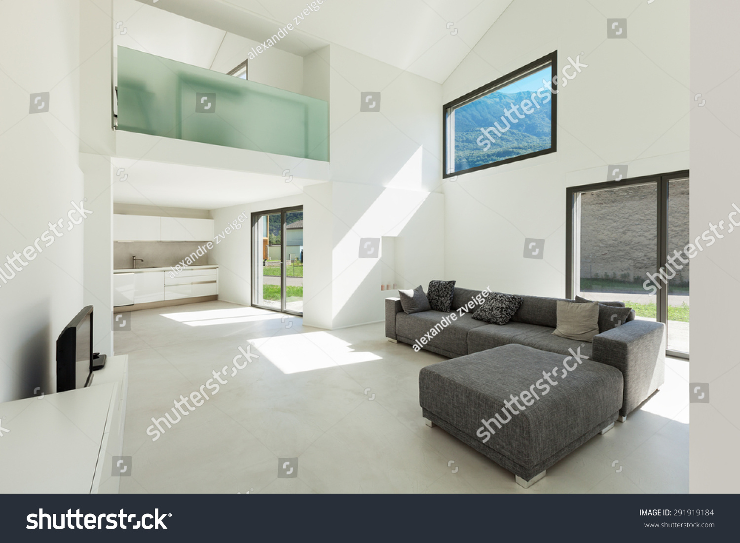 Architecture Interior Modern House Living Room Stock Photo (Royalty ...