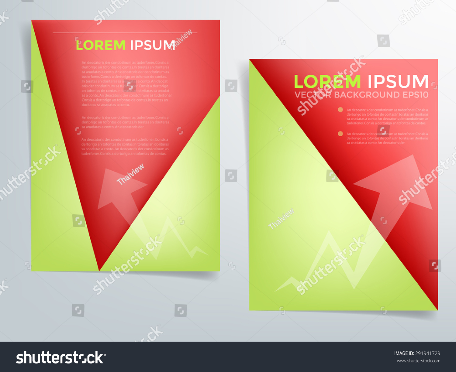 red brochure template - brochure template vector background flyer design stock