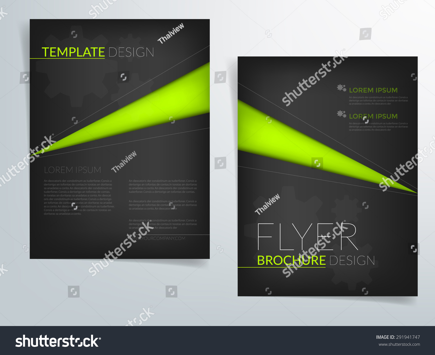 Black brochure template vector background flyer design for Black brochure template