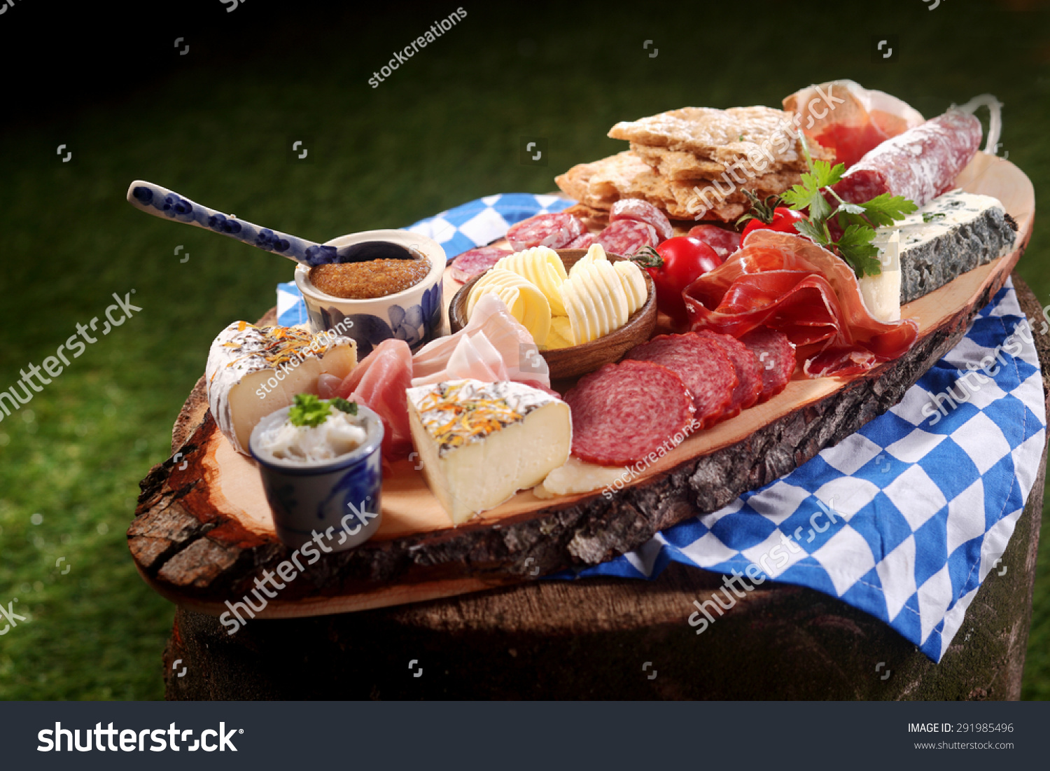 Bavarian Gourmet Meat And Cheese Platter With Assorted ...