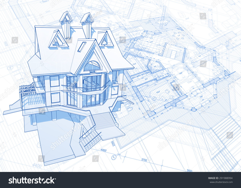 Architecture design blueprint house plans illustration stock architecture design blueprint house plans illustration stock illustration 291988994 shutterstock malvernweather Gallery