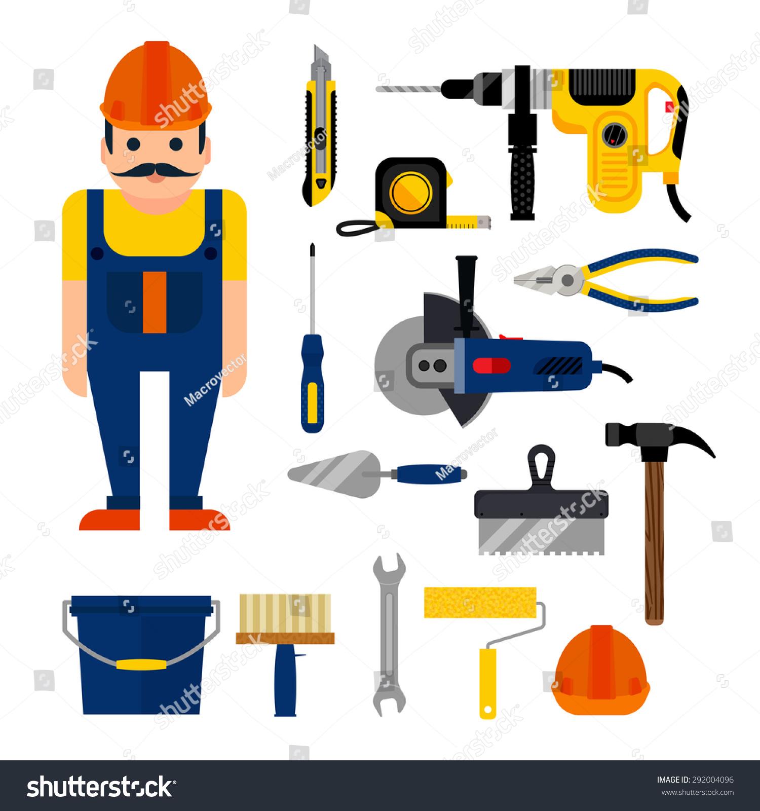 Diy Home Repairs Power Hand Tools Stock Vector 292004096