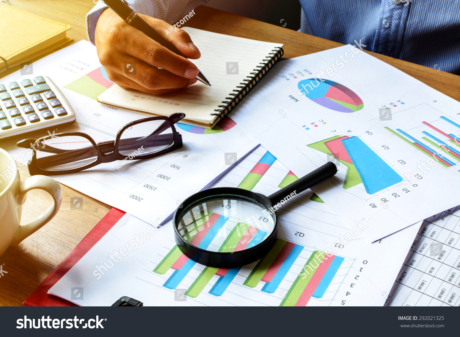 Businessman Working On Desk Office Business Stock Photo