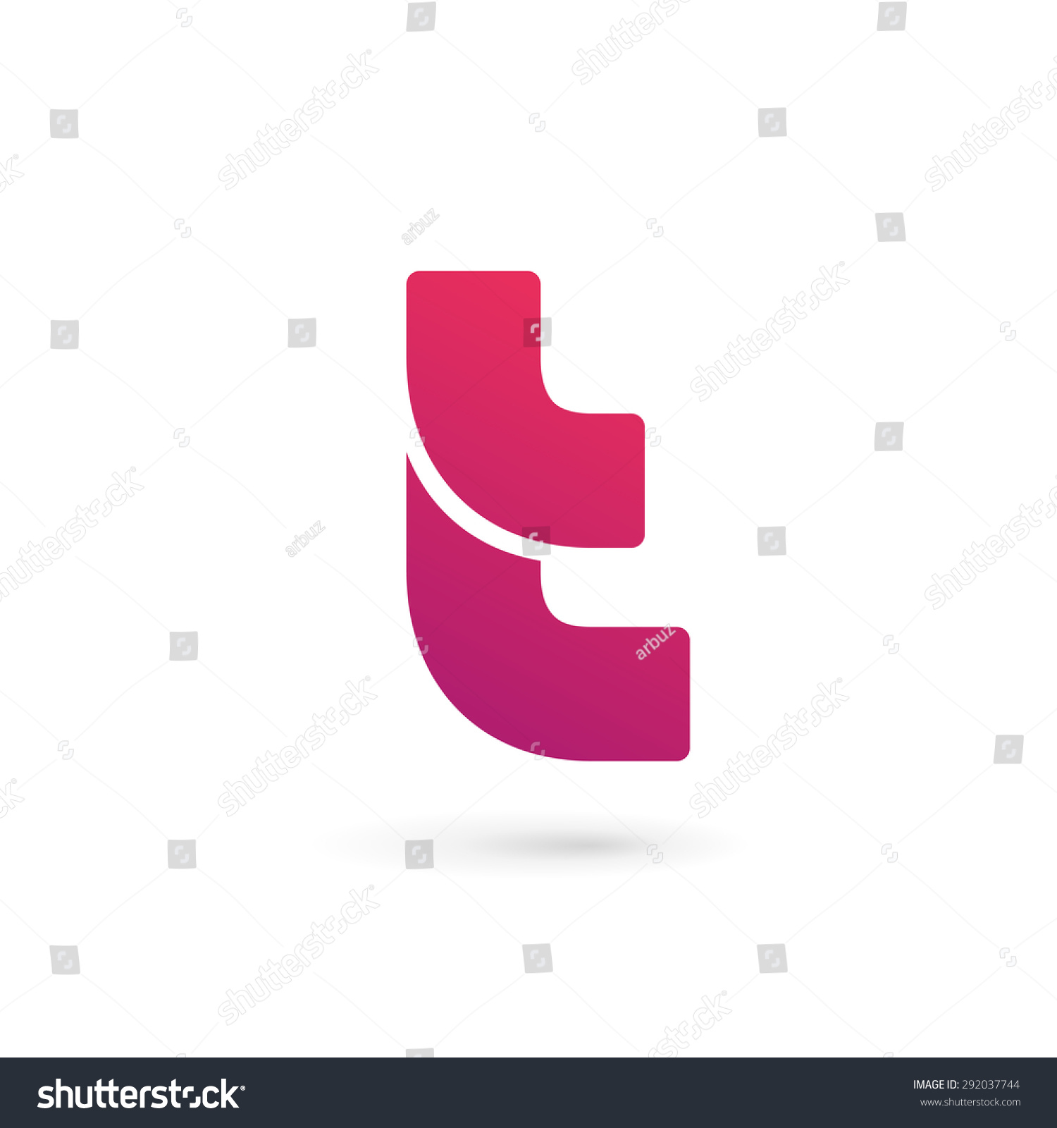 Letter T Logo Icon Design Template Elements Stock Vector Illustration ...