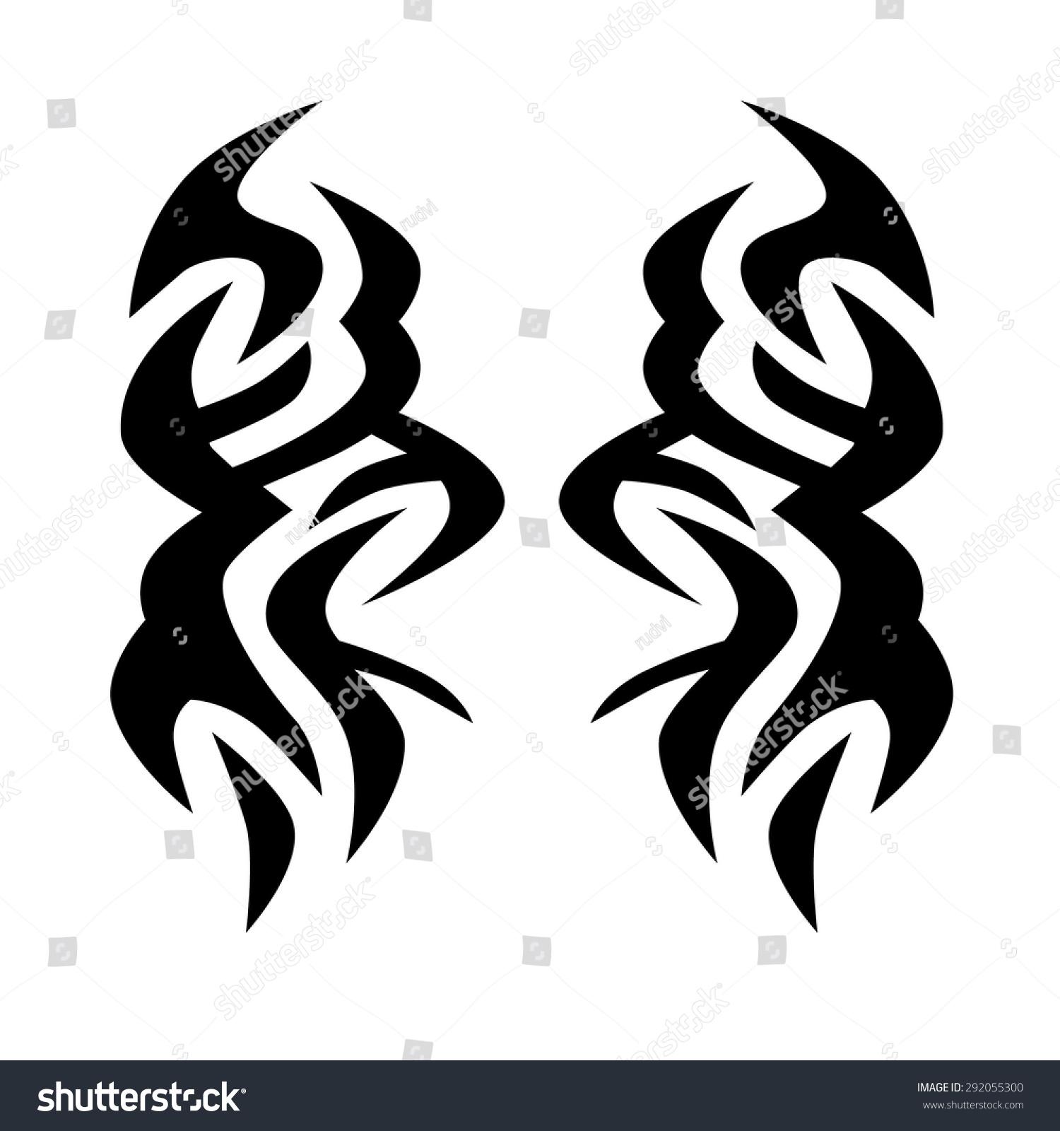 Tribal Tattoo Vector Design Sketch Sleeve Vector De Stock Libre De