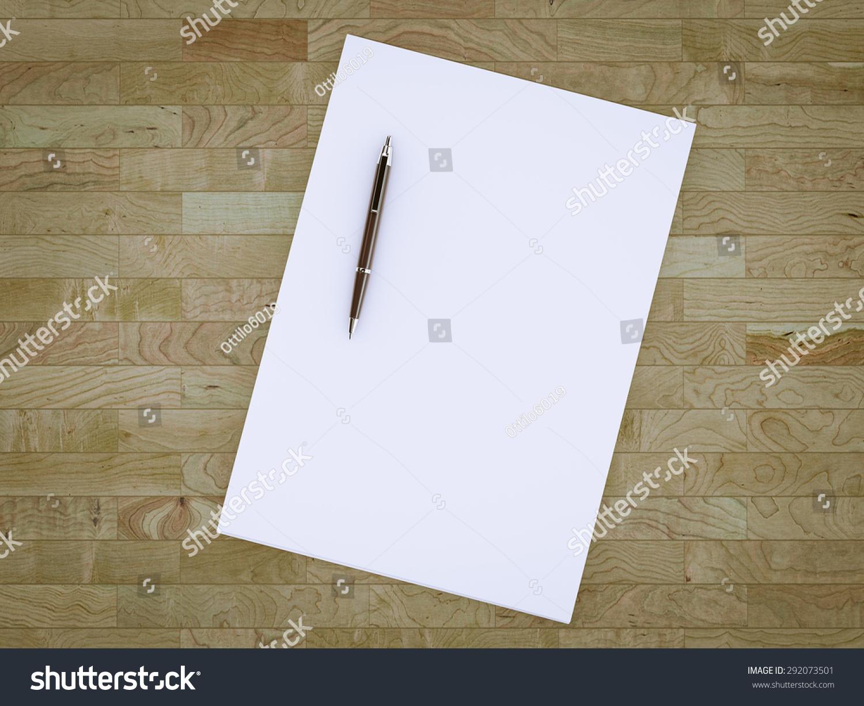 Blank Stationery Set On Wood Background Stock Illustration 292073501
