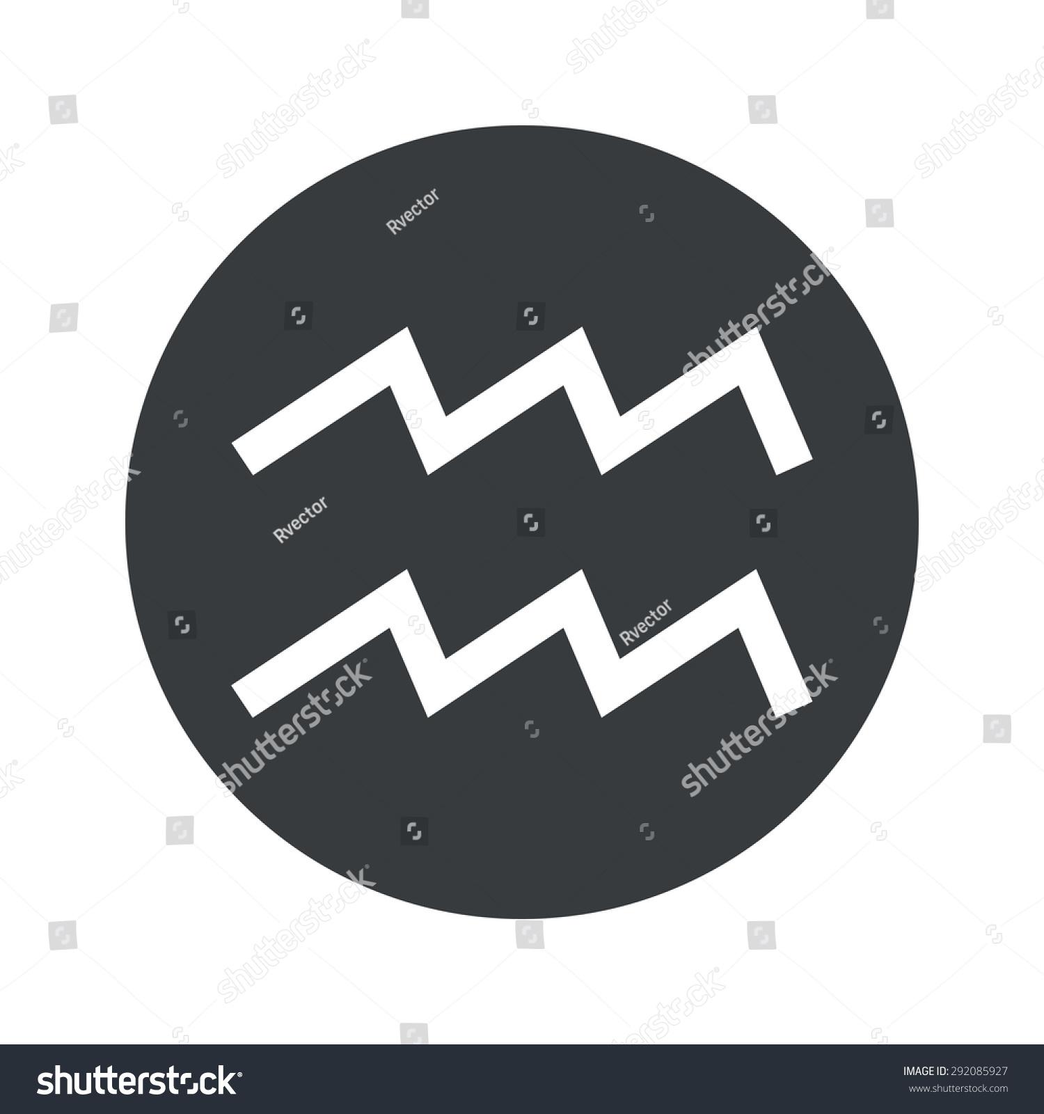 Image aquarius zodiac symbol black circle stock vector 292085927 image of aquarius zodiac symbol in black circle isolated on white buycottarizona