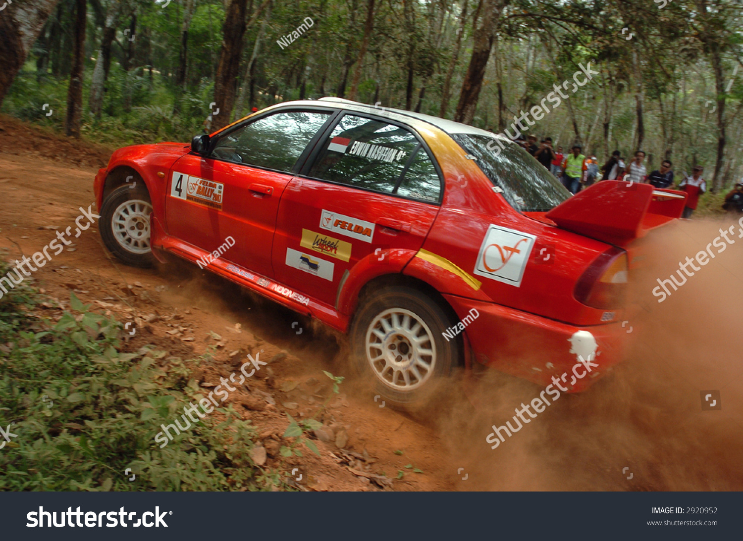 Mitsubishi Rally Car Action Stock Photo 2920952 - Shutterstock
