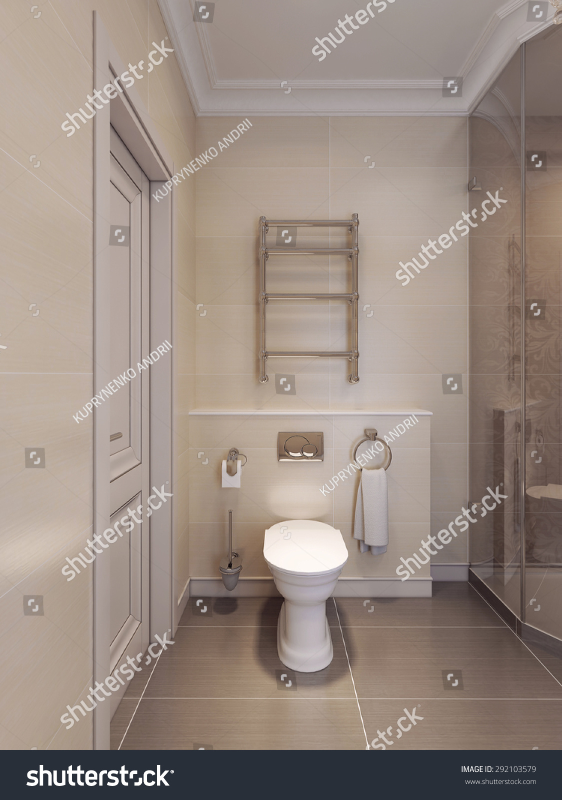 wc art deco style brown beige stock illustration 292103579 shutterstock. Black Bedroom Furniture Sets. Home Design Ideas