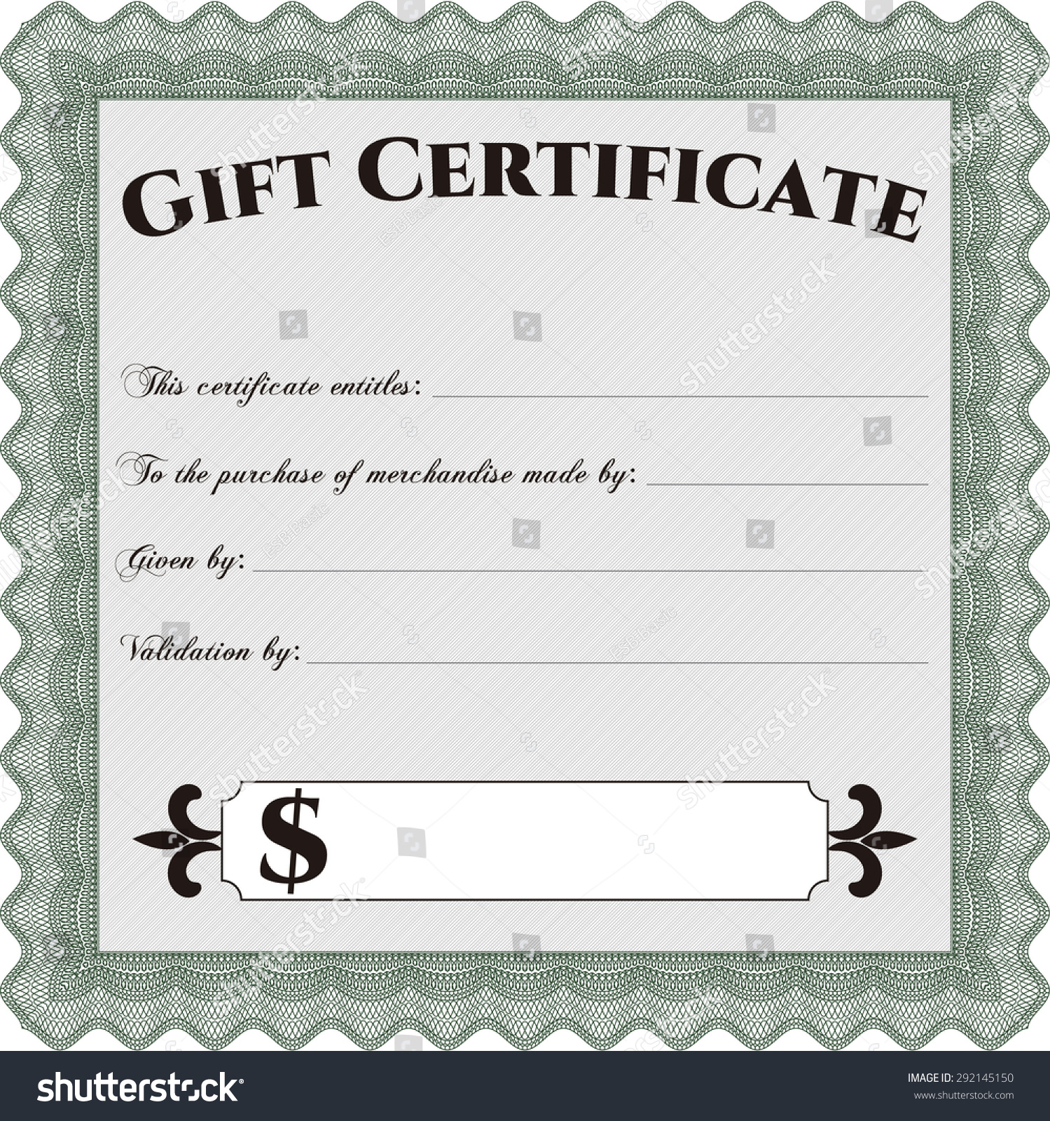vector gift certificate template easy to print retro design save to a lightbox