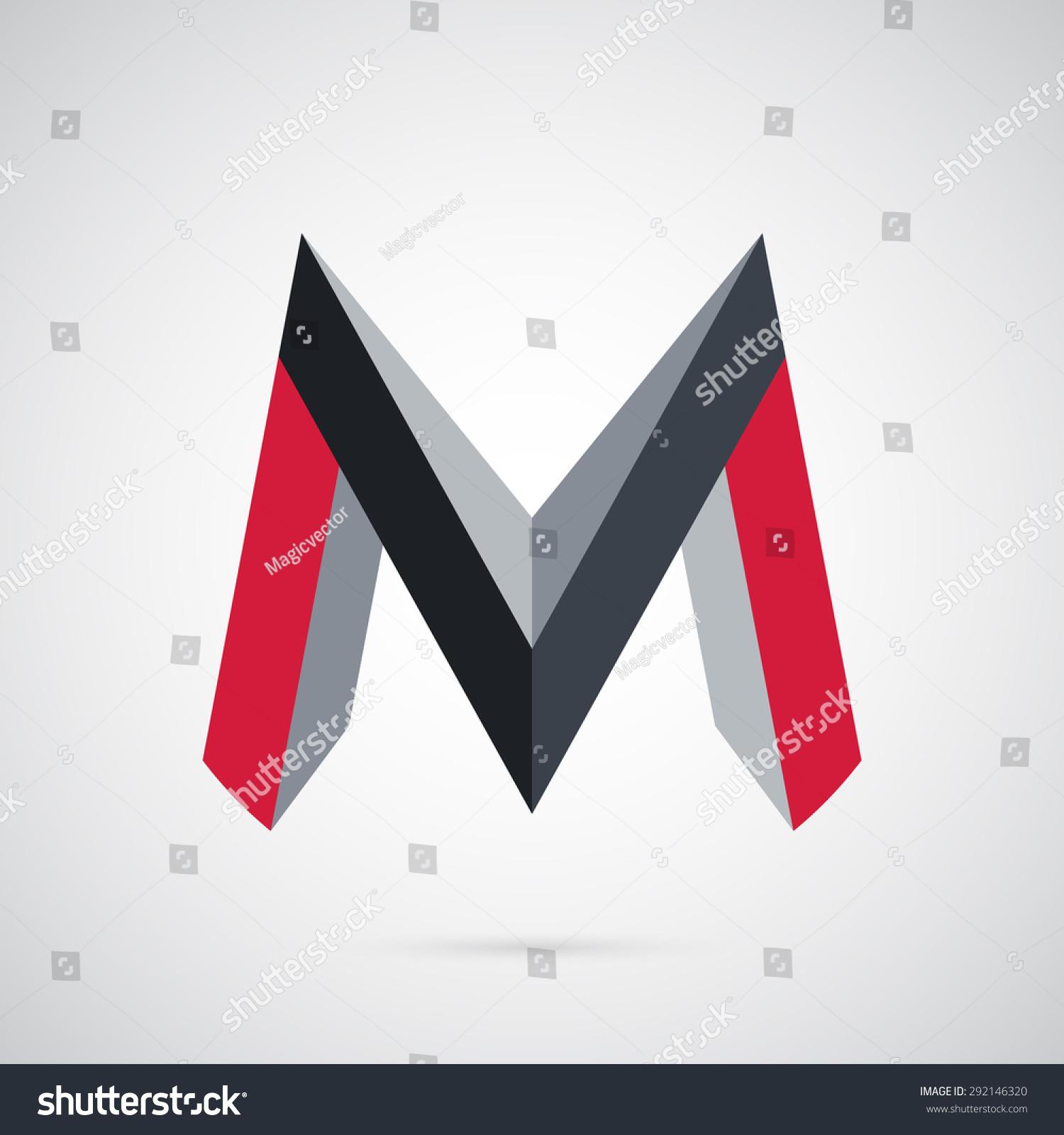 M Logo 3d 3d Creative Str...