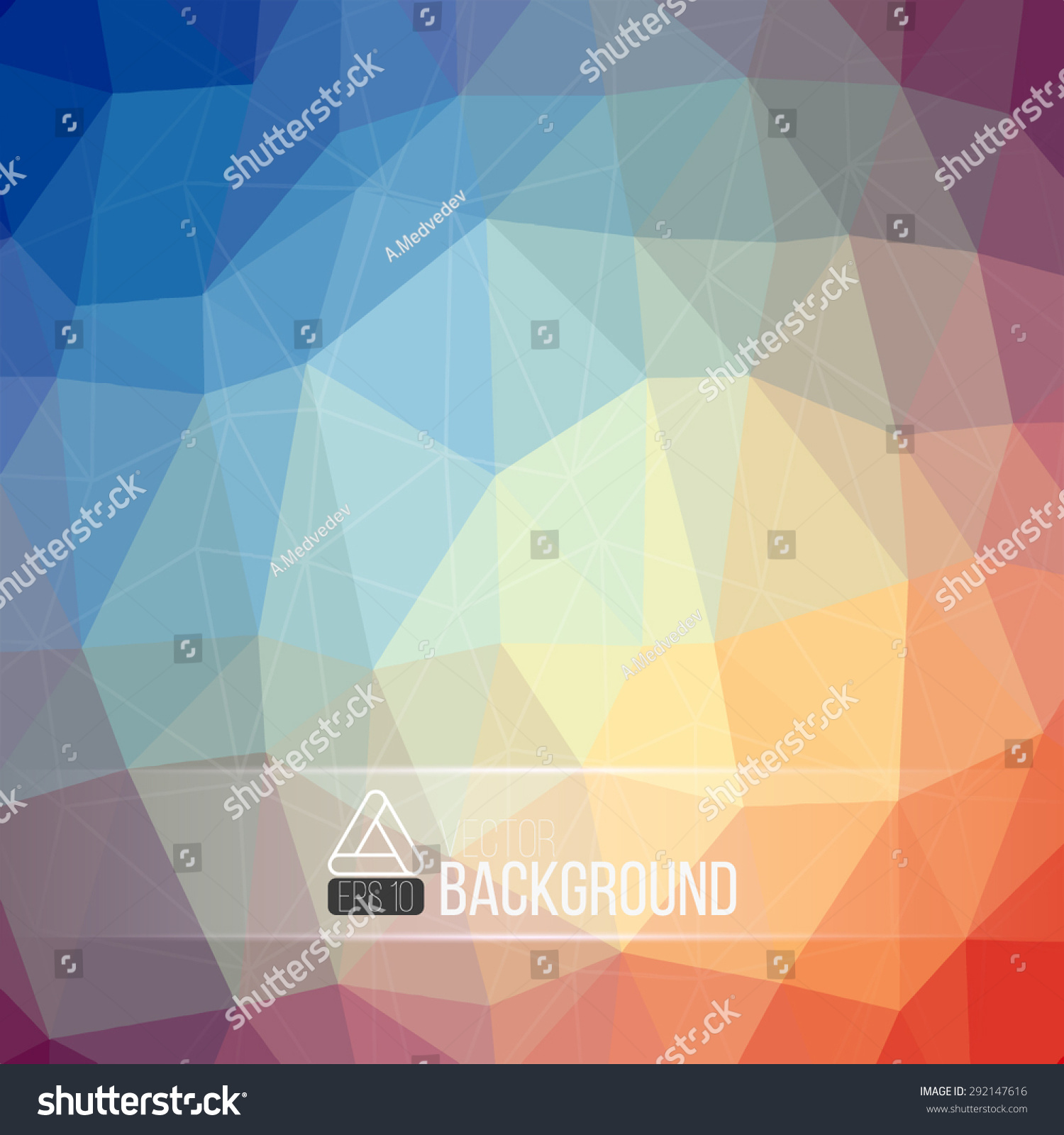 geometric polygon bright color background best stock vector royalty
