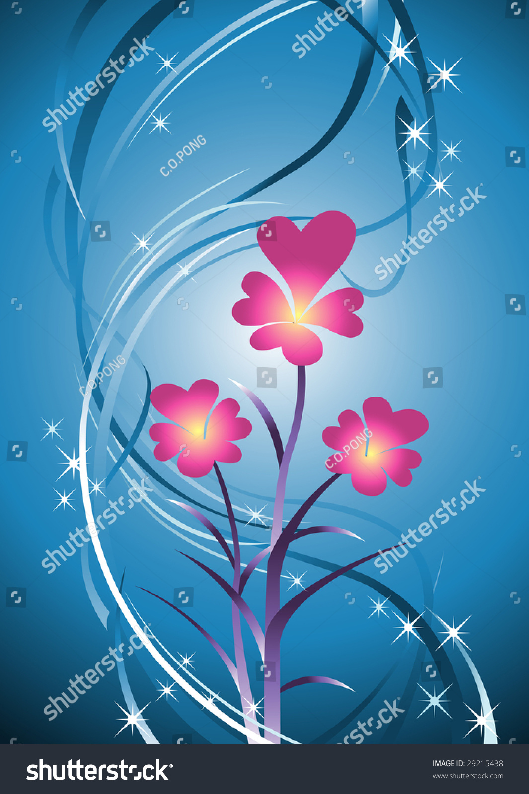 New born flowers represent hope life love in vector for Flowers that represent love