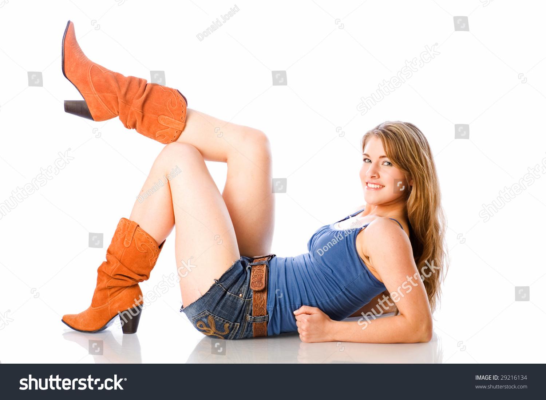 Girl Wearing Short Shorts