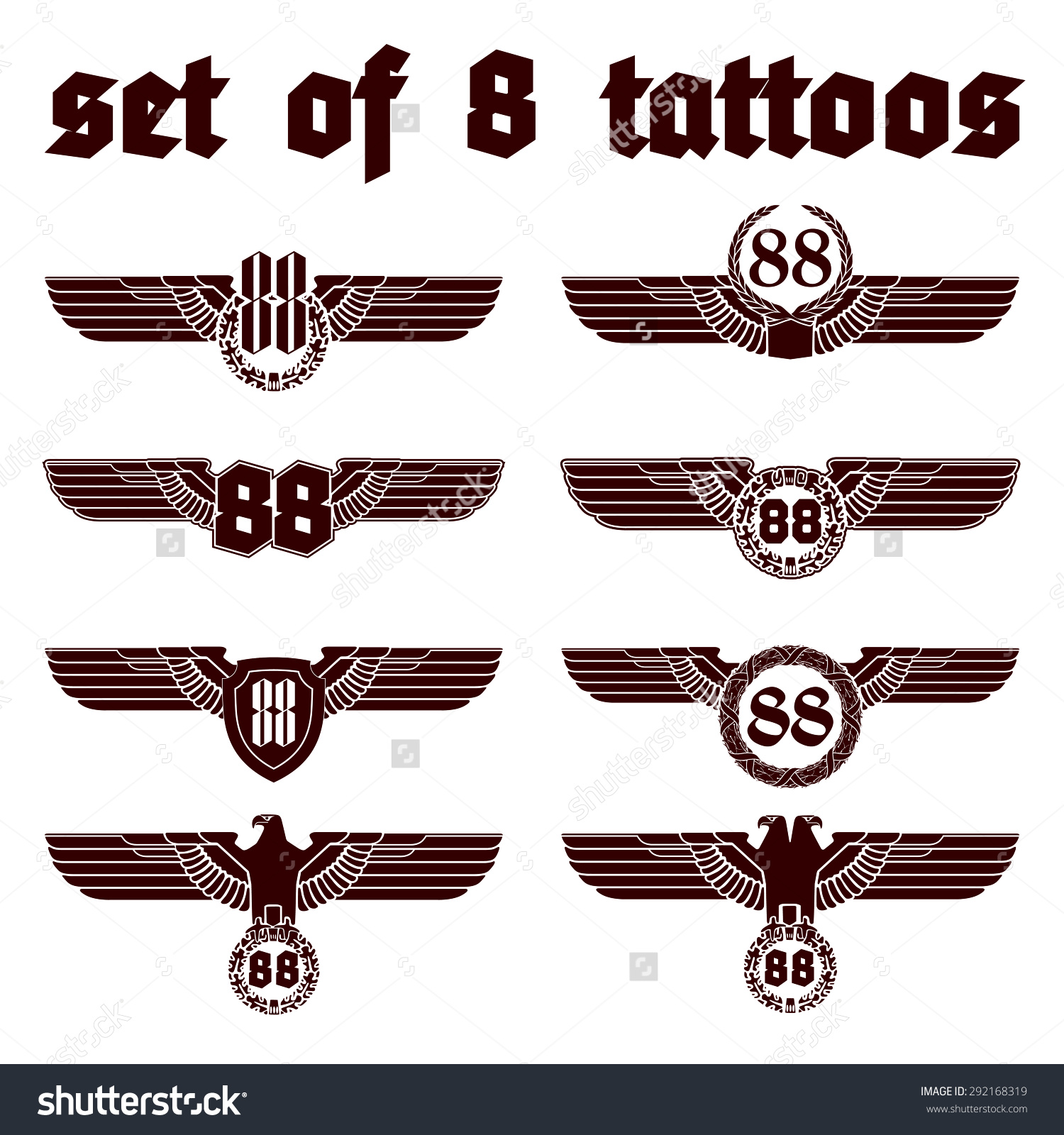 nazi war eagle tattoo images galleries with a bite. Black Bedroom Furniture Sets. Home Design Ideas