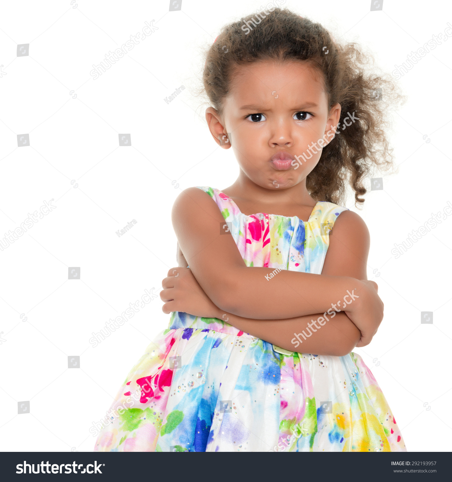 Grimace face clip art stock photo woman pulls a face in upset - Cute Small Girl Making A Funny Angry Face Isolated On White