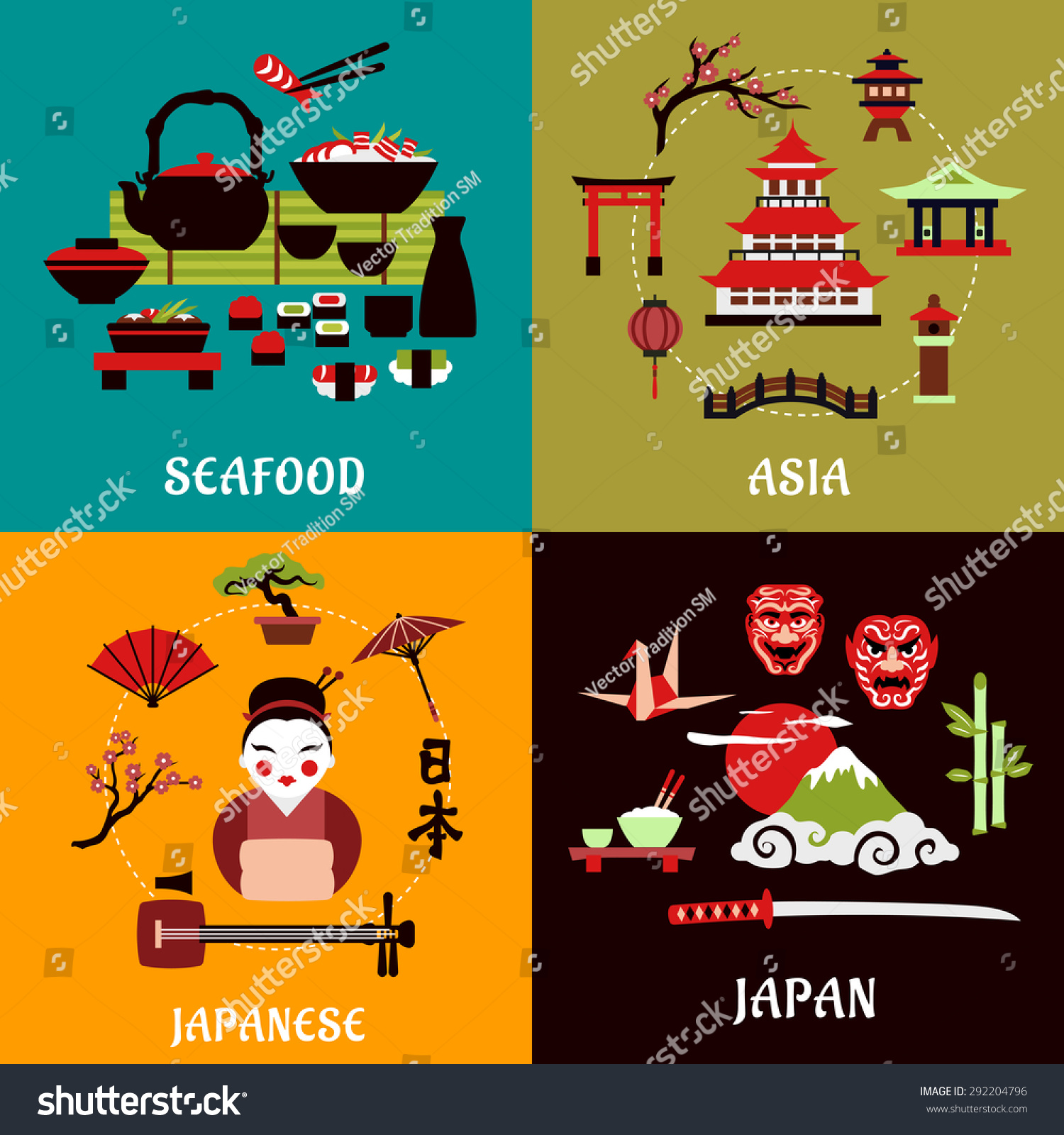 Royalty Free Japanese Culture History And Cuisine 292204796 Stock