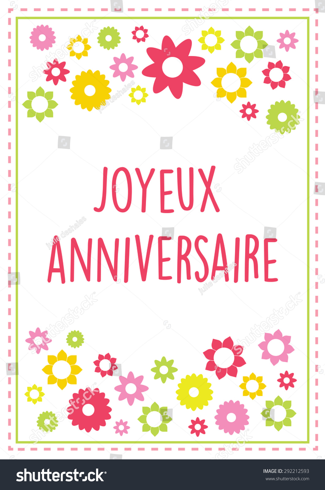 Swell French Happy Birthday Greeting Card Vector Stock Vector Royalty Personalised Birthday Cards Paralily Jamesorg
