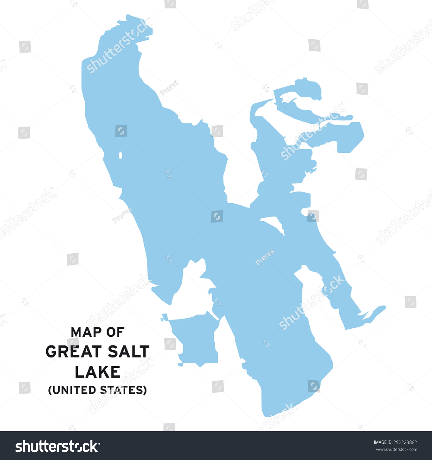 Great Salt Lake United States Map Stock Vector - Great salt lake on a us map