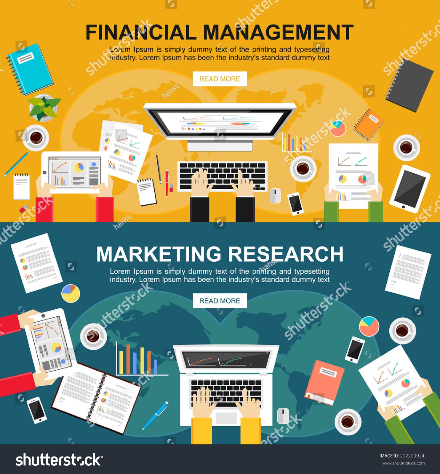 Financial Management: Banner Financial Management Marketing Research Flat Stock
