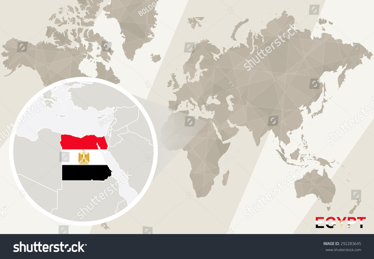 Zoom on egypt map flag world stock vector 292283645 shutterstock zoom on egypt map and flag world map gumiabroncs Choice Image