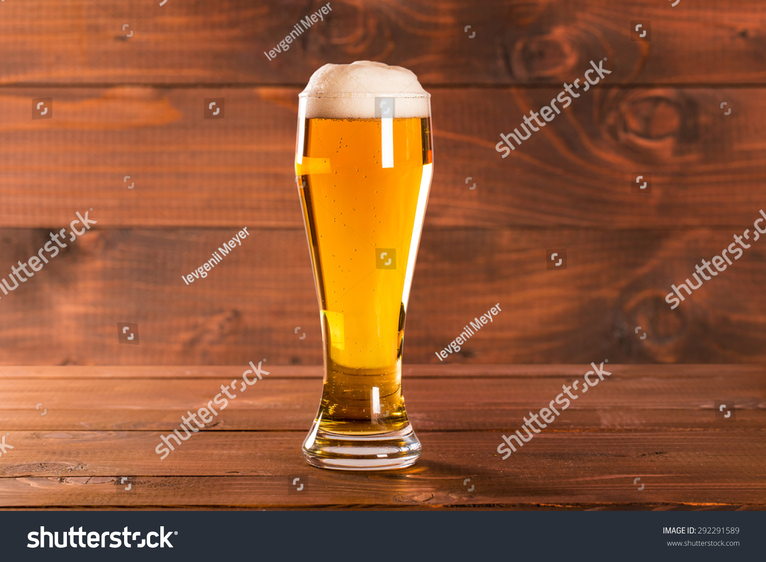 glass beer on wood - photo #13