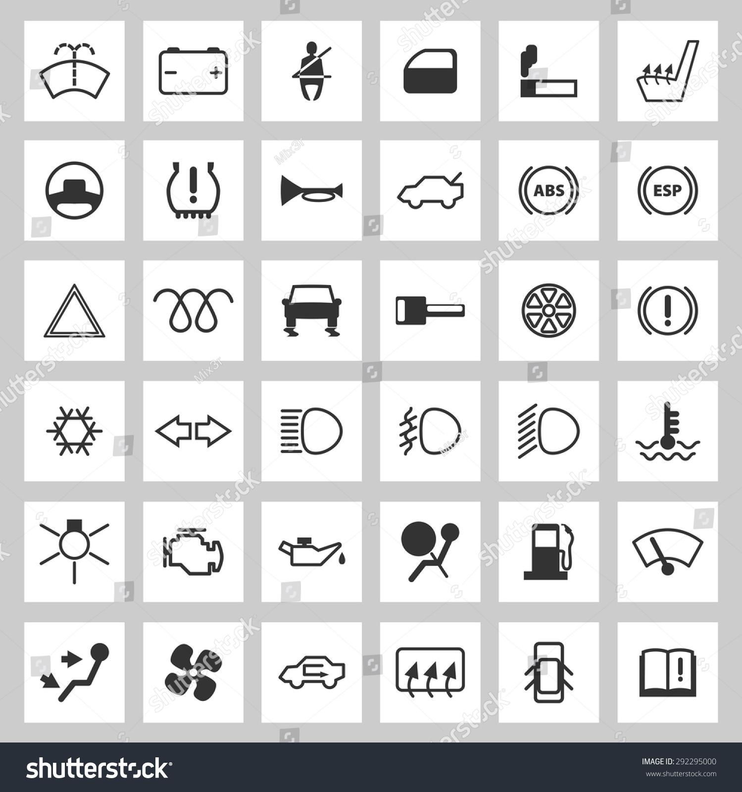 Car dashboard icons set stock vector 292295000 shutterstock car dashboard icons set biocorpaavc Images