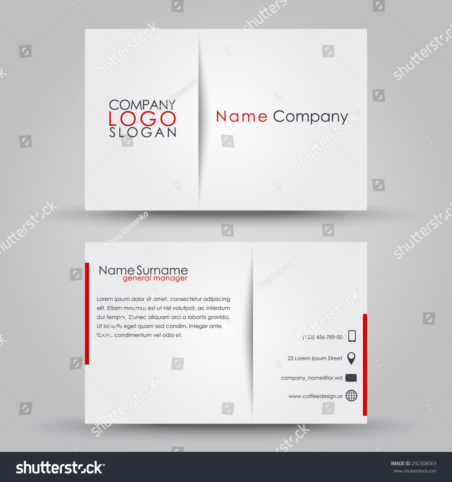 Company message for business cards examples images free business business card company images free business cards design business card company individual vector stock vector design magicingreecefo Choice Image